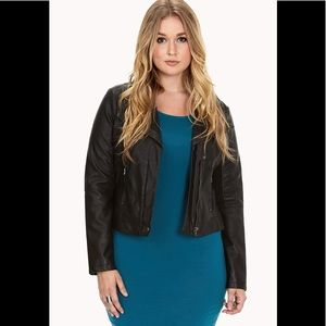 forever 21 plus city chic faux leather jacket XL